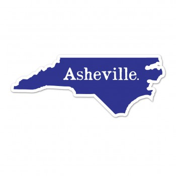 Asheville Sticker Navy/white