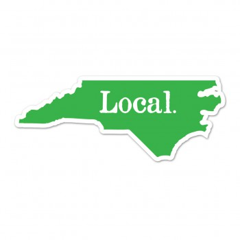 NC Local Sticker Green/white