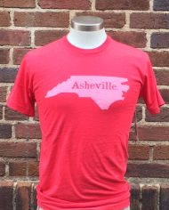 Asheville. T-shirt RED