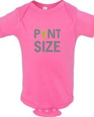 pink pint size onesie